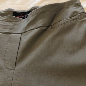 RED HANGER Grey Stretchy Dress Pants M)